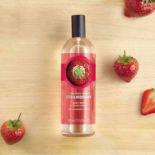 صورة سعر وعيوب بودي ميست الفراولة The Body Shop Strawberry Body Mist